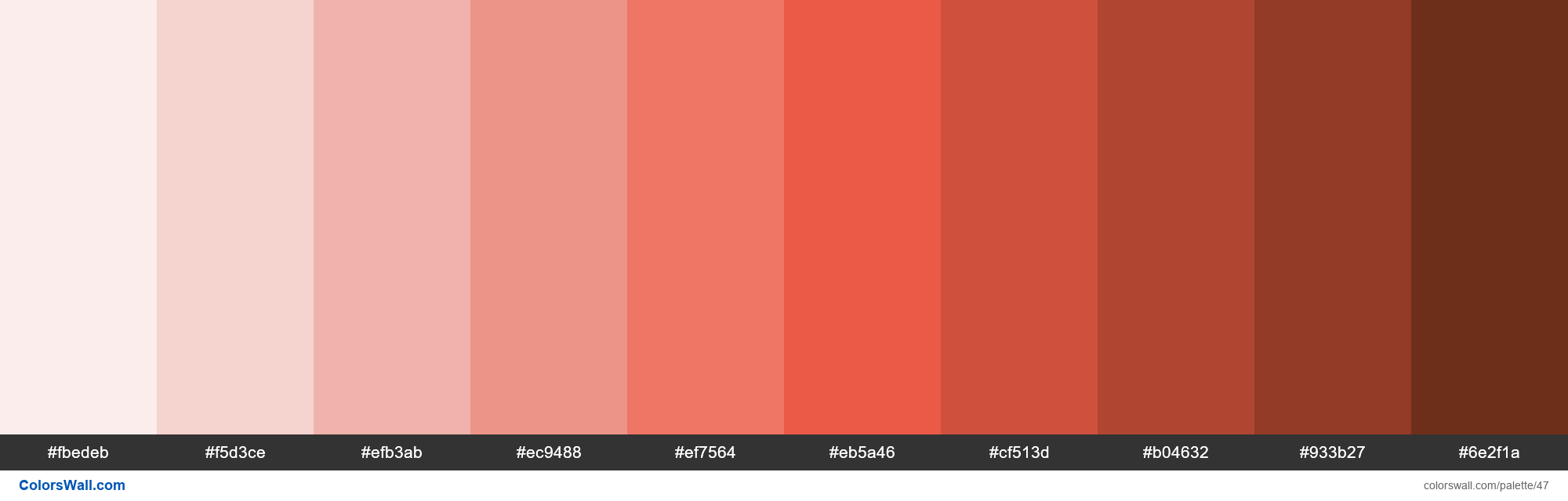 Trello Red colors palette - #47
