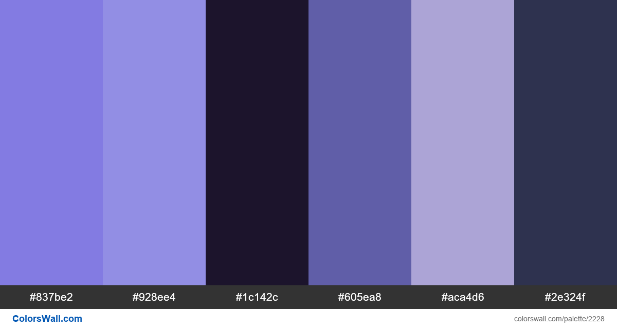 Trendy web colors 2018 - #2228