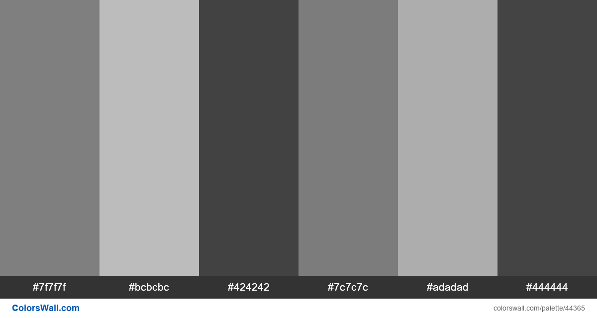 Type black and white art palette - #44365