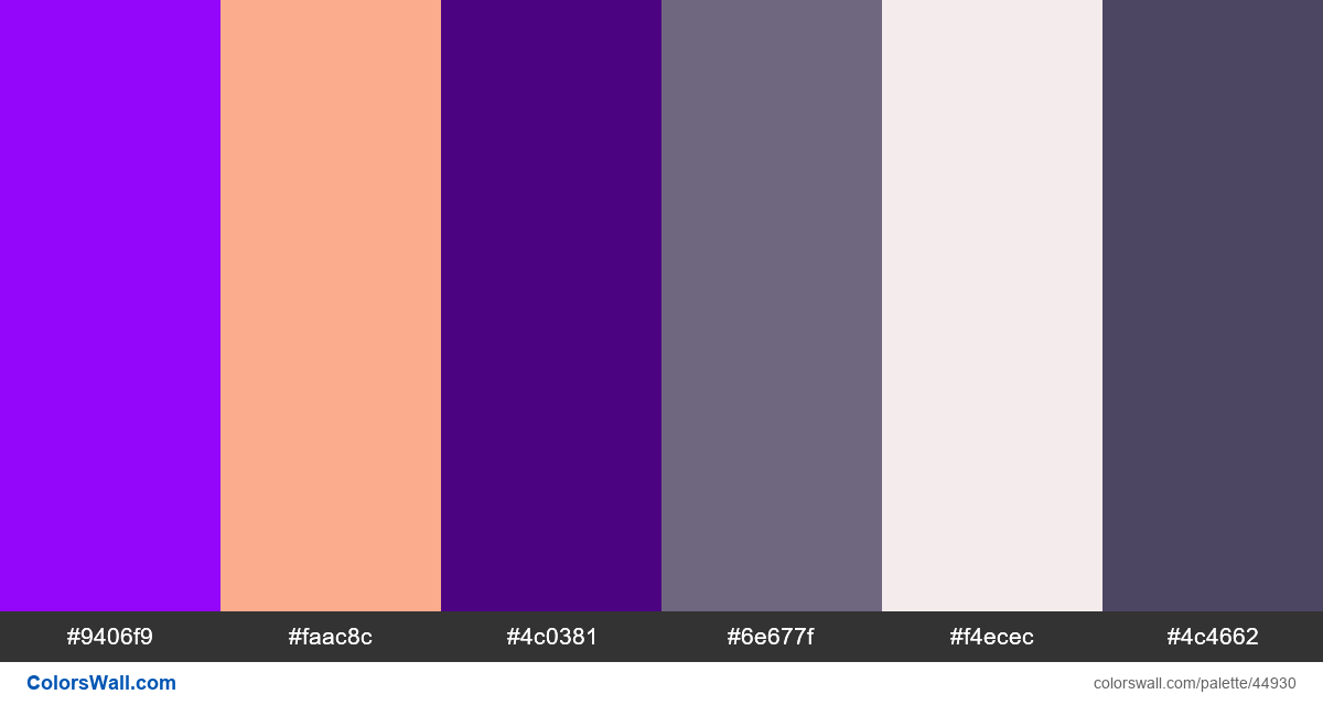 Typography house logo gradient colors palette - #44930