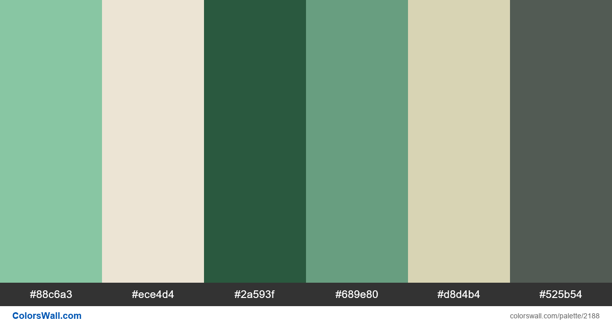 US dollar colors scheme - #2188