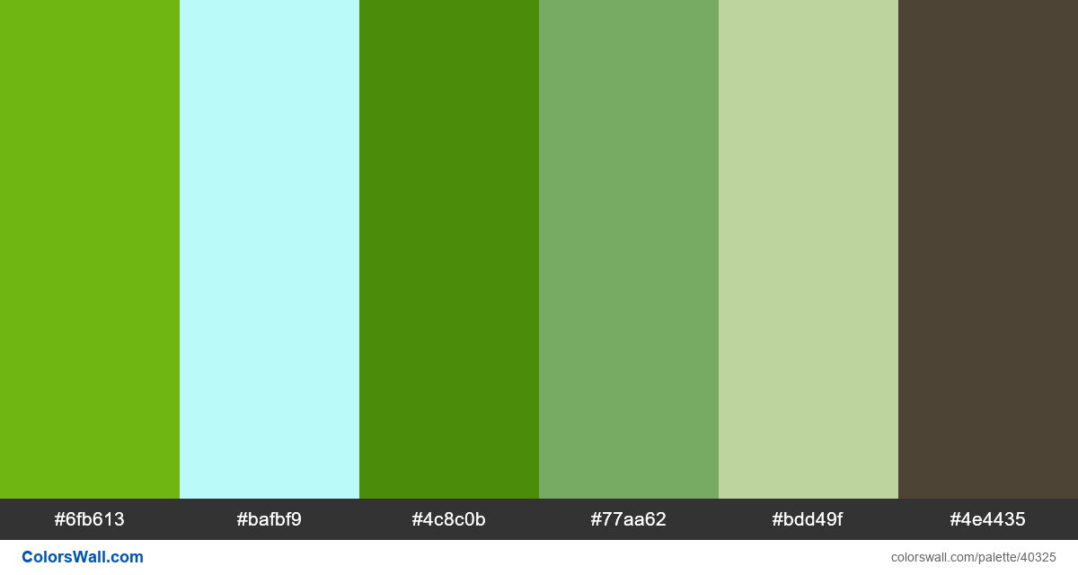 Vector illustration nature adobe illustrator colors palette - #40325