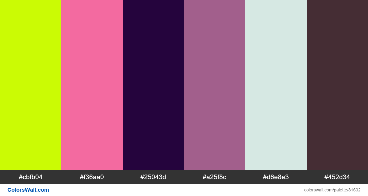 Vector tacky colorful psychedelic colors palette - #81602