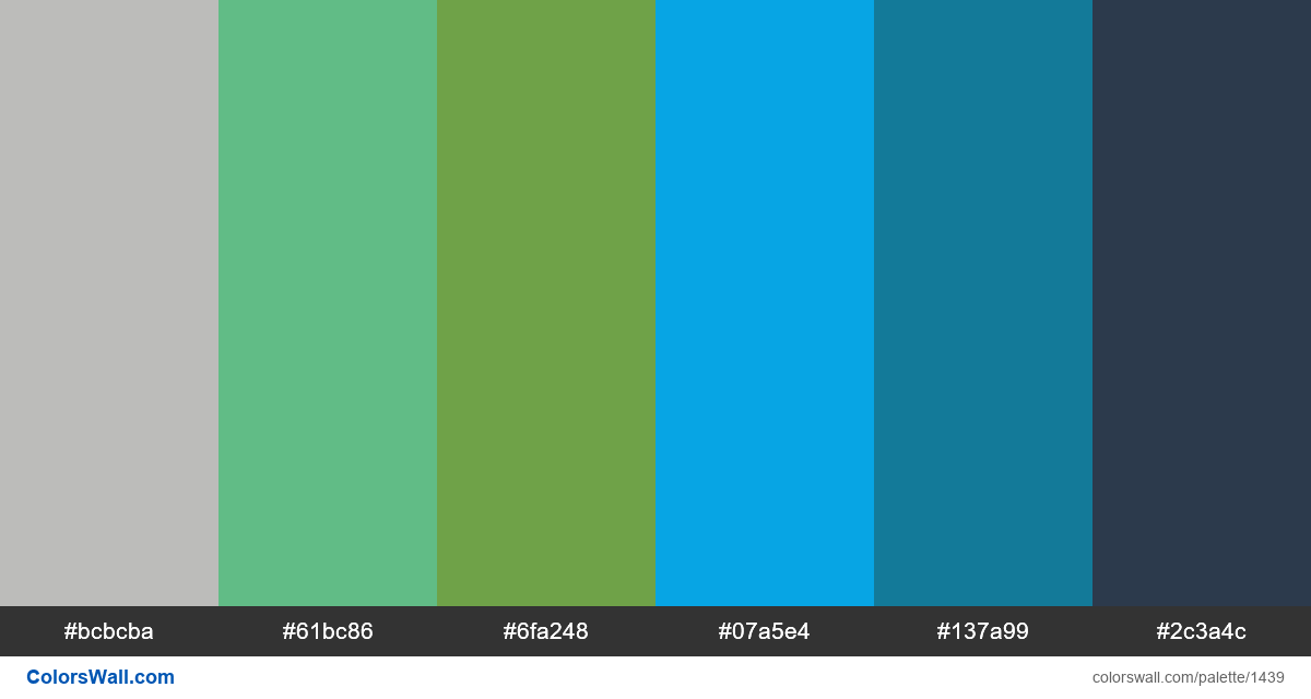 Wall colors palette - #1439