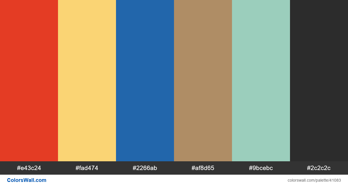 Web design daily 27428 colors palette - #41083