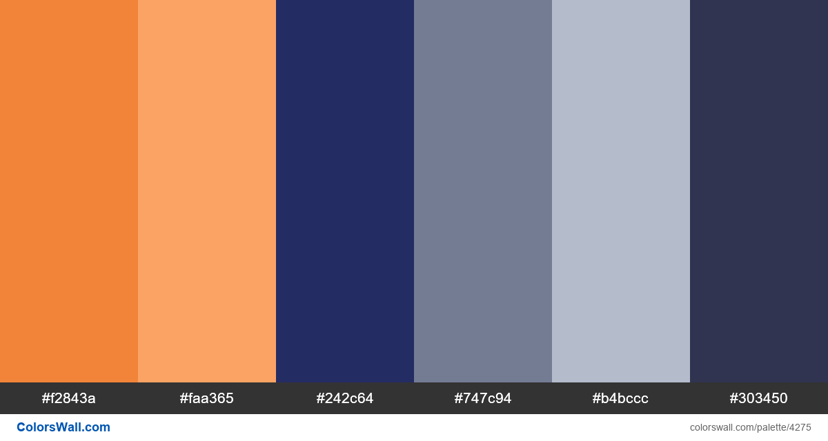 Web design daily colors palette 1037 - #4275