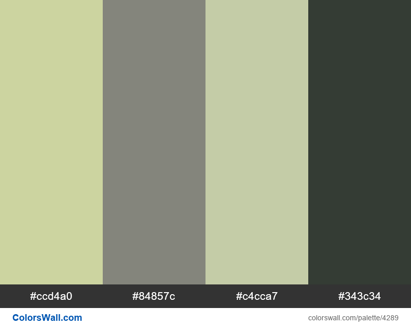 Web design daily colors palette 1051 - #4289