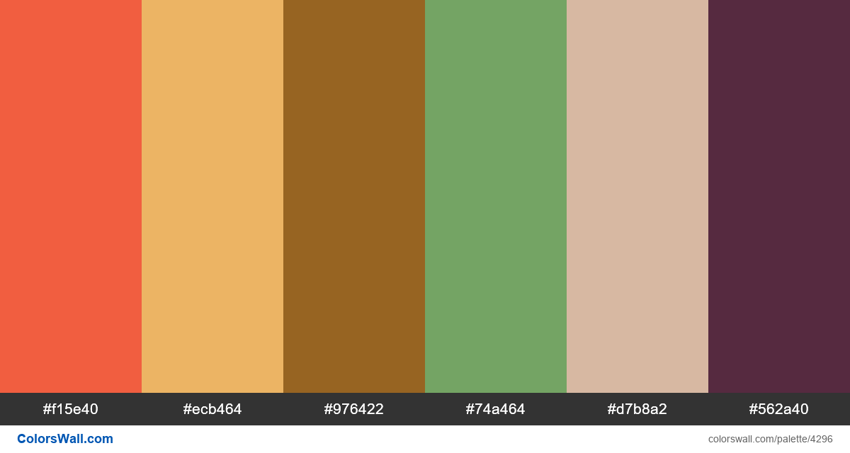 Web design daily colors palette 1058 - #4296