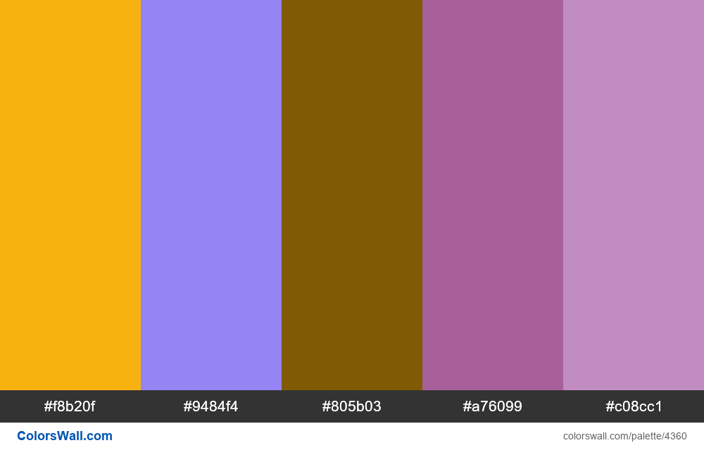 Web design daily colors palette 1122 - #4360