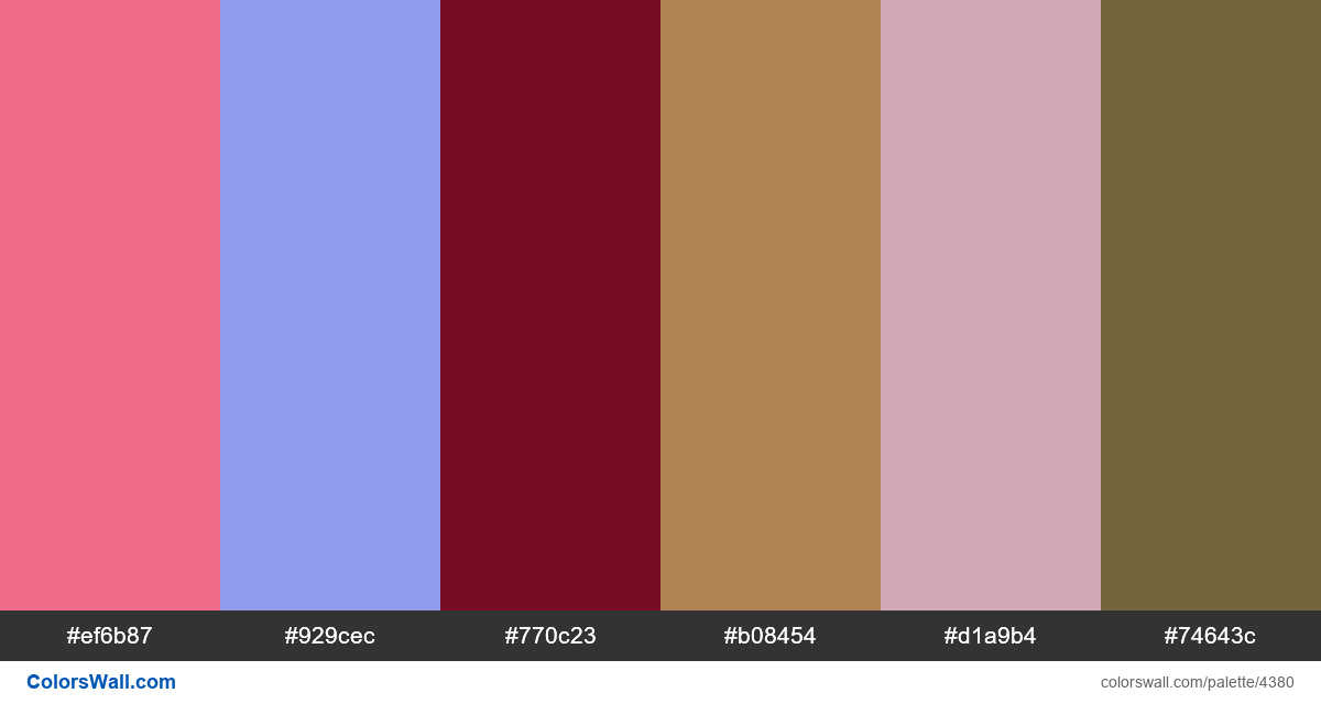 Web design daily colors palette 1142 - #4380