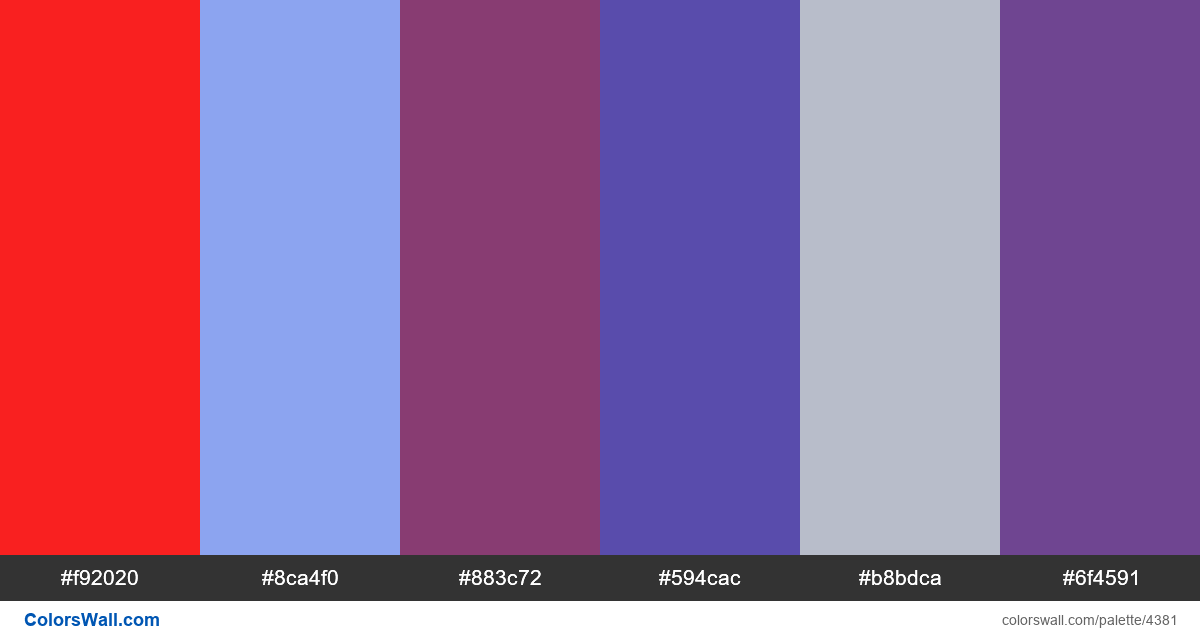 Web design daily colors palette 1143 - #4381