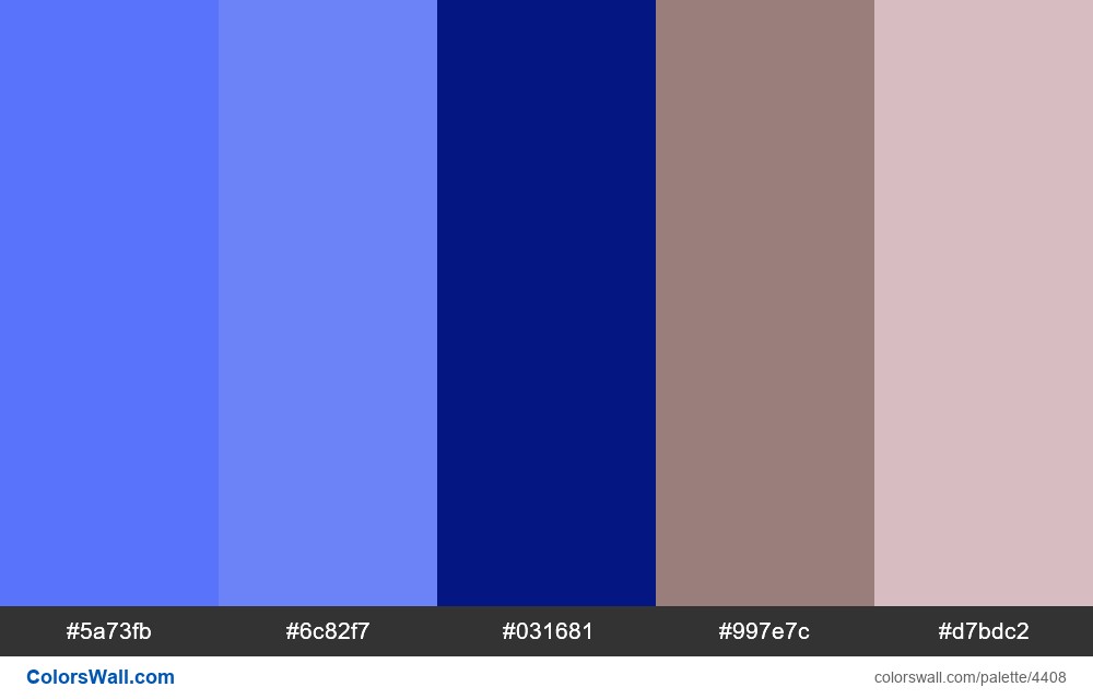 Web design daily colors palette 1170 - #4408