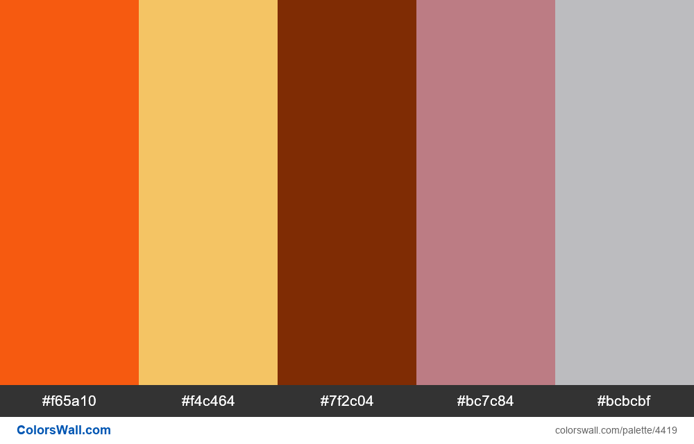 Web design daily colors palette 1181 - #4419
