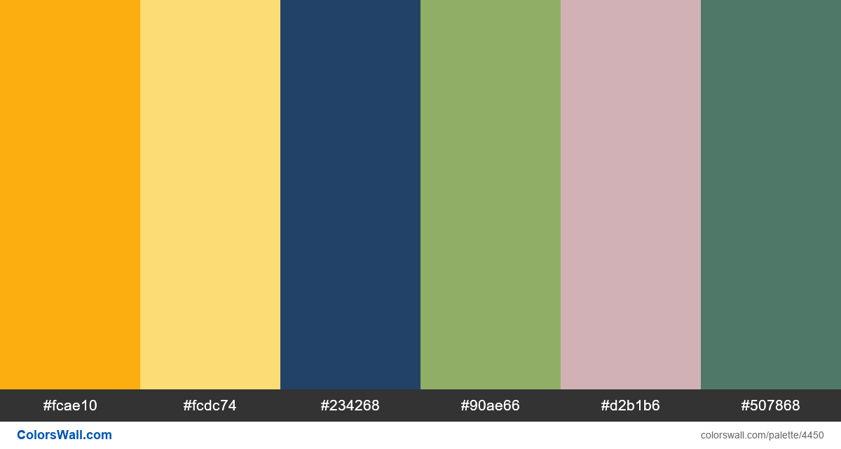 Web design daily colors palette 1210 - #4450