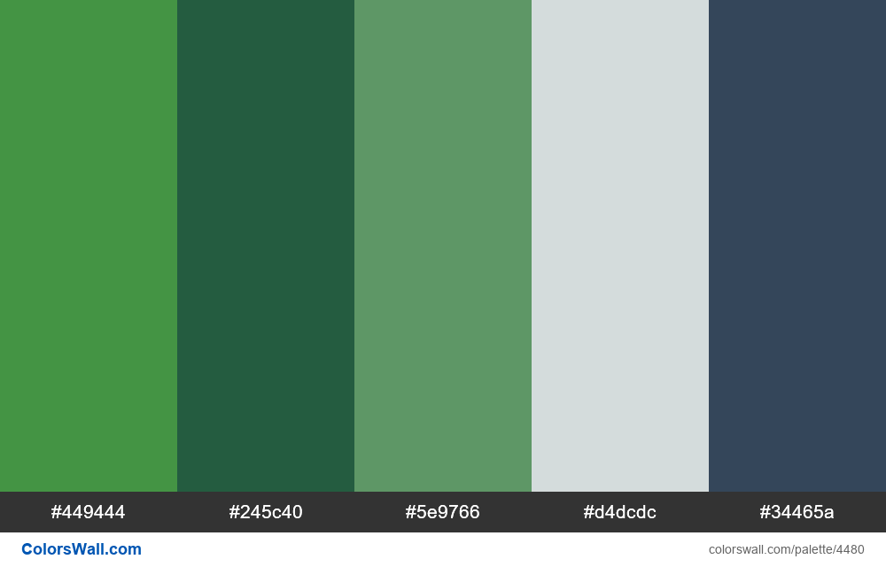 Web design daily colors palette 1237 - #4480