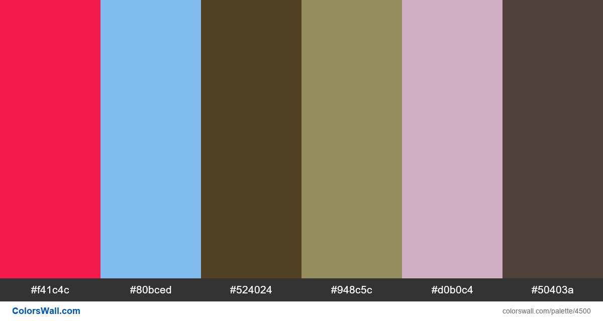 Web design daily colors palette 1255 - #4500