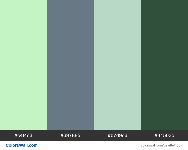 Web design daily colors palette 1262 - #4507