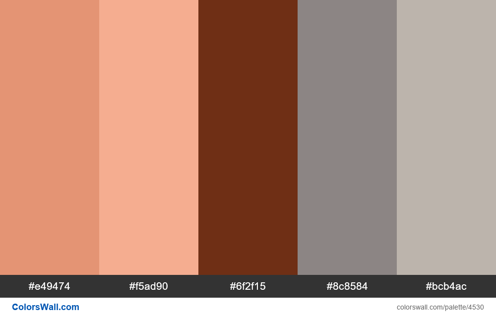 Web design daily colors palette 1280 - #4530