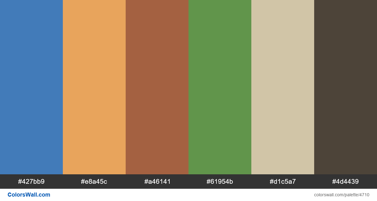 Web design daily colors palette 1449 - #4710