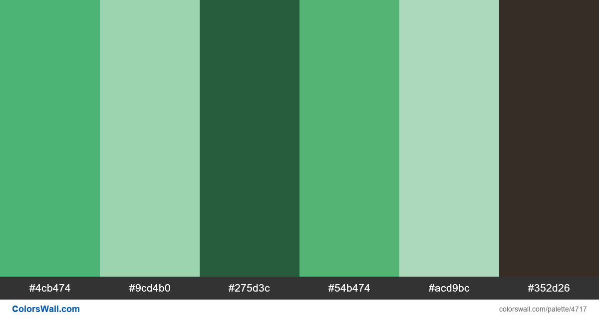 Web design daily colors palette 1456 - #4717