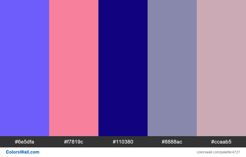Web design daily colors palette 1466 - #4727
