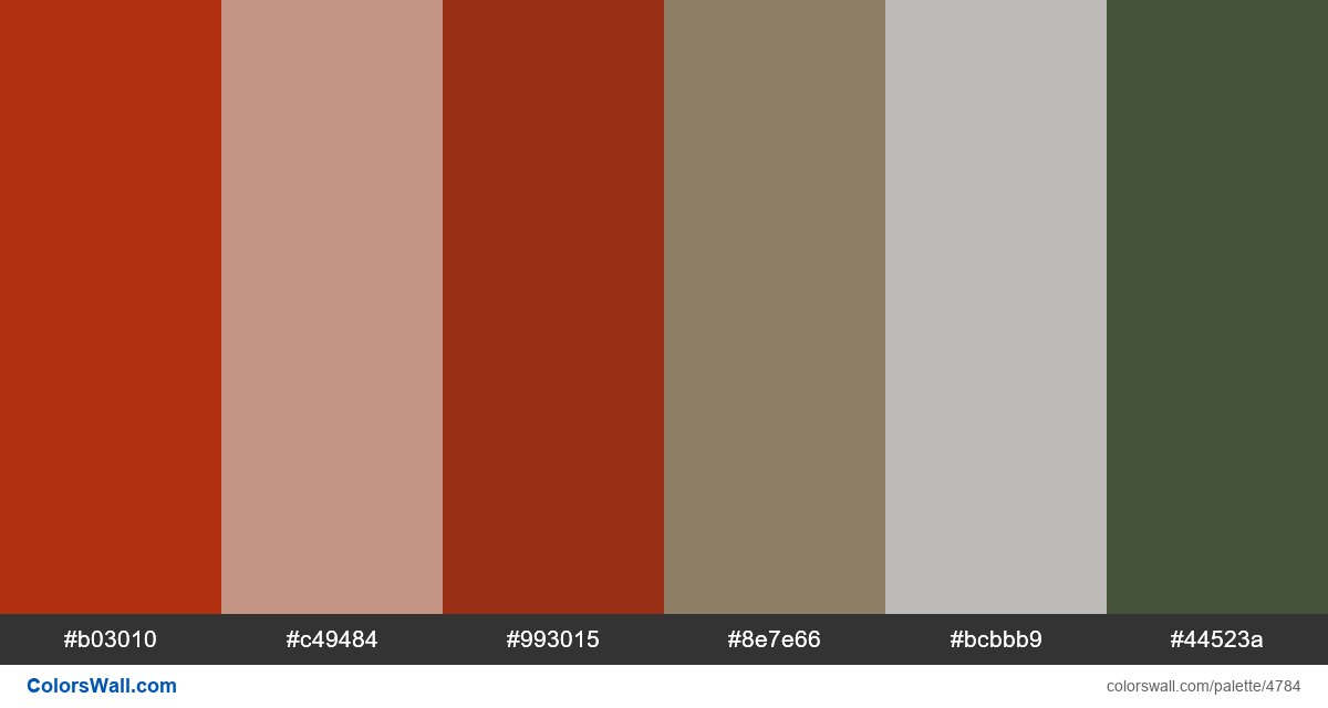 Web design daily colors palette 1520 - #4784
