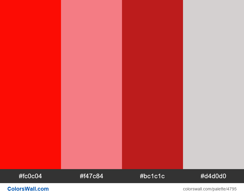 Web design daily colors palette 1531 - #4795