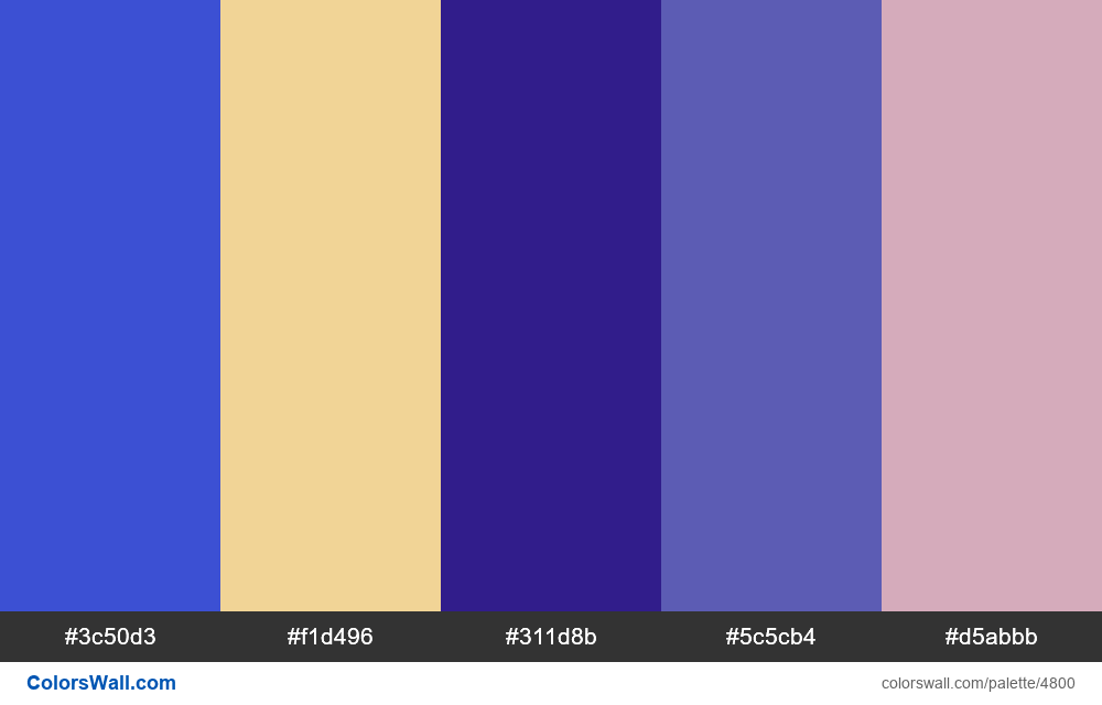 Web design daily colors palette 1535 - #4800