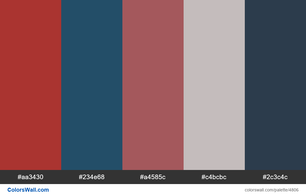 Web design daily colors palette 1541 - #4806