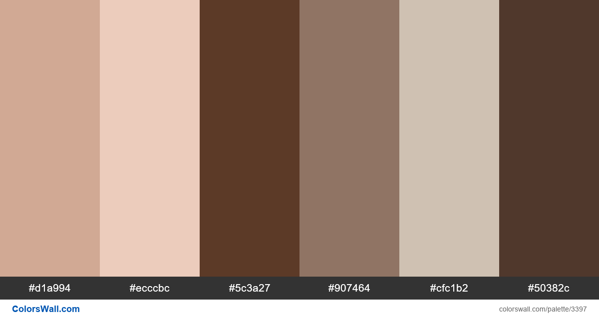 Web design daily colors palette 403 - #3397