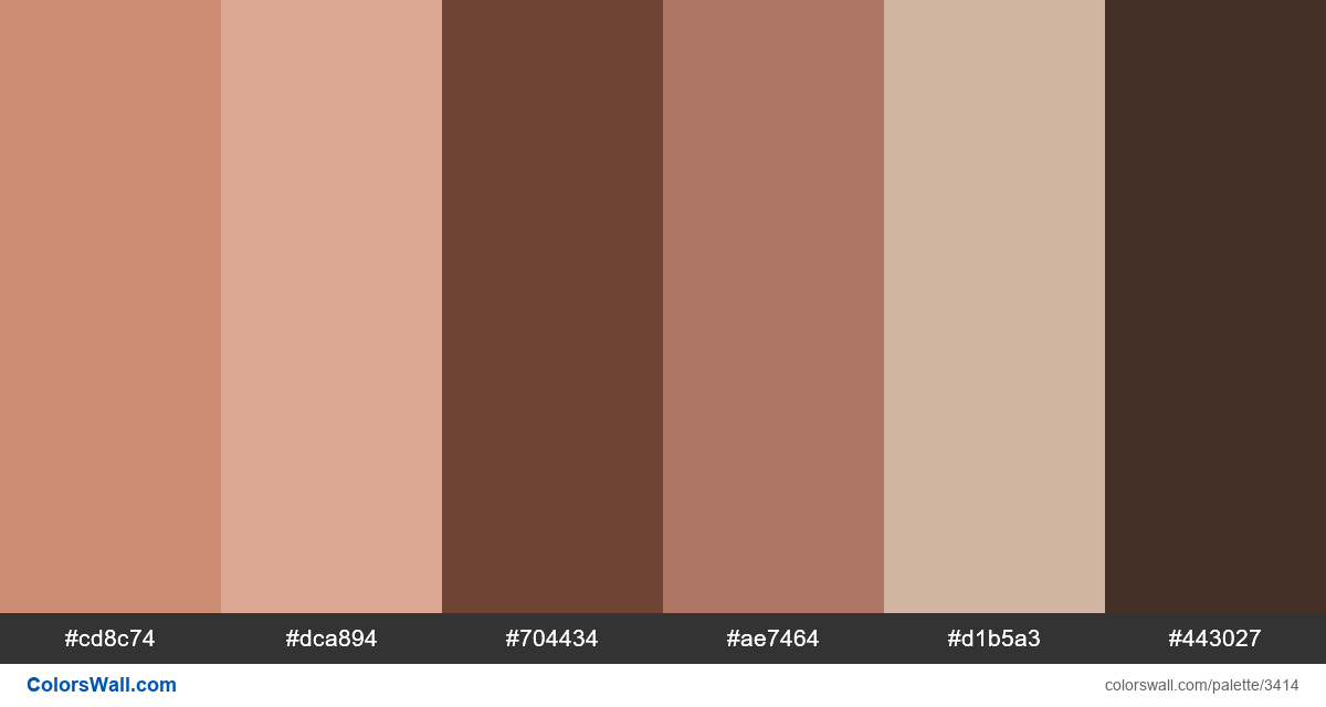 Web design daily colors palette 420 - #3414