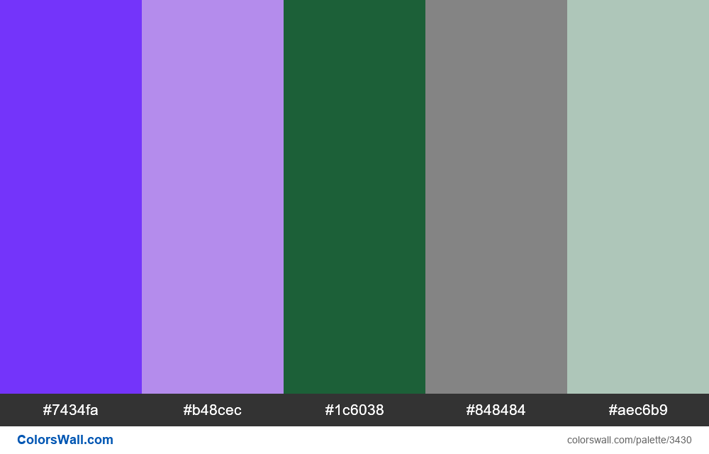 Web design daily colors palette 436 - #3430