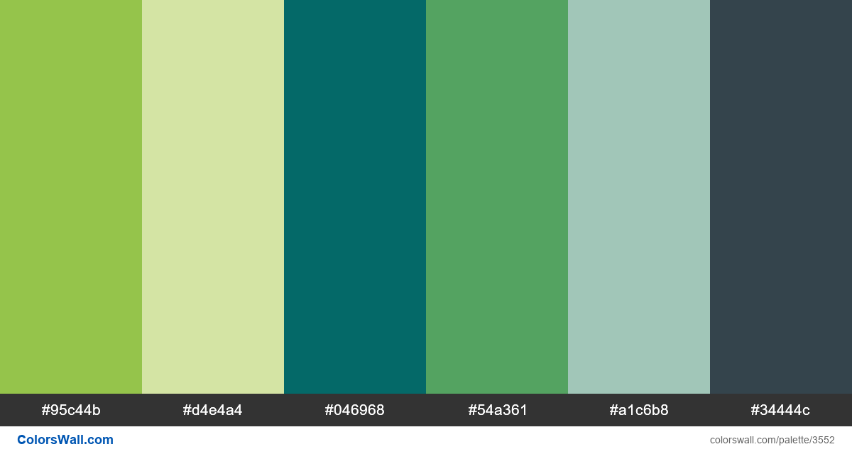 Web design daily colors palette 563 - #3552