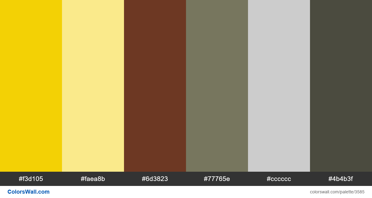 Web design daily colors palette 595 - #3585
