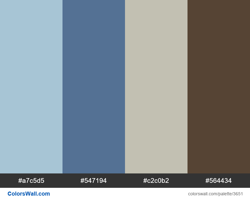 Web design daily colors palette 661 - #3651