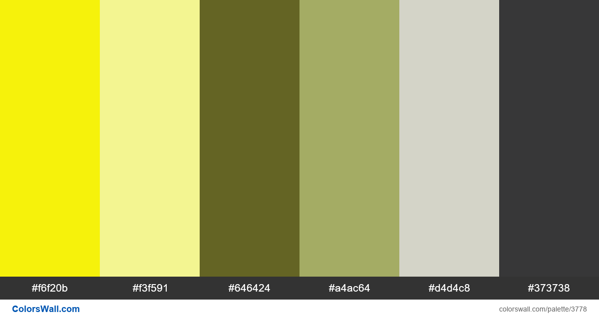 Web design daily colors palette 756 - #3778