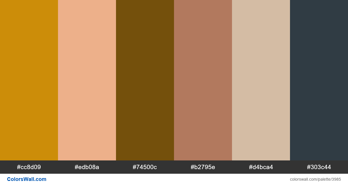 Web design daily colors palette 860 - #3985