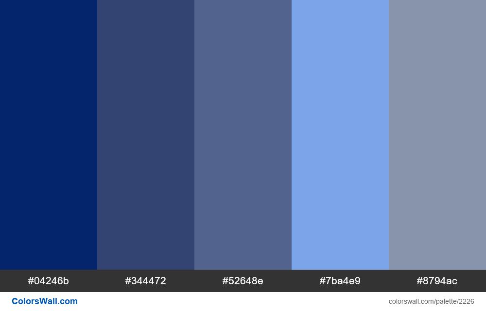 WEB Modern blue colors scheme - #2226