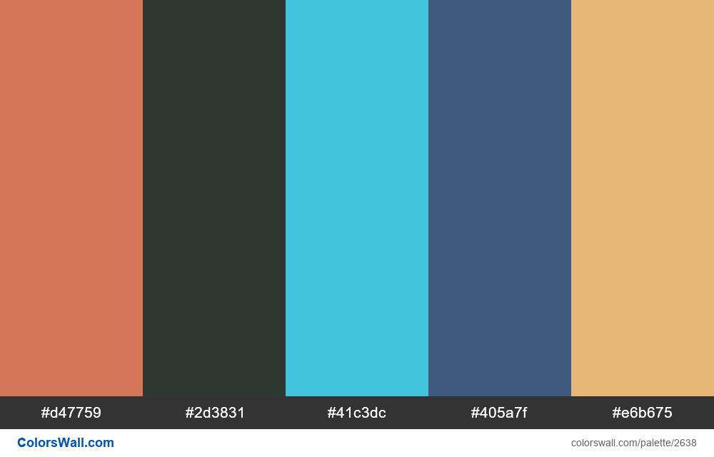 Web site 2019 colors palette - #2638