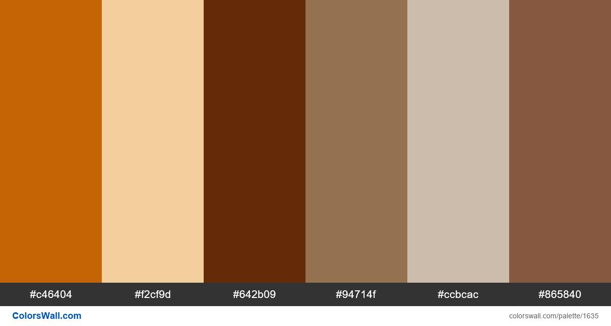 web site brown colors palette - #1635