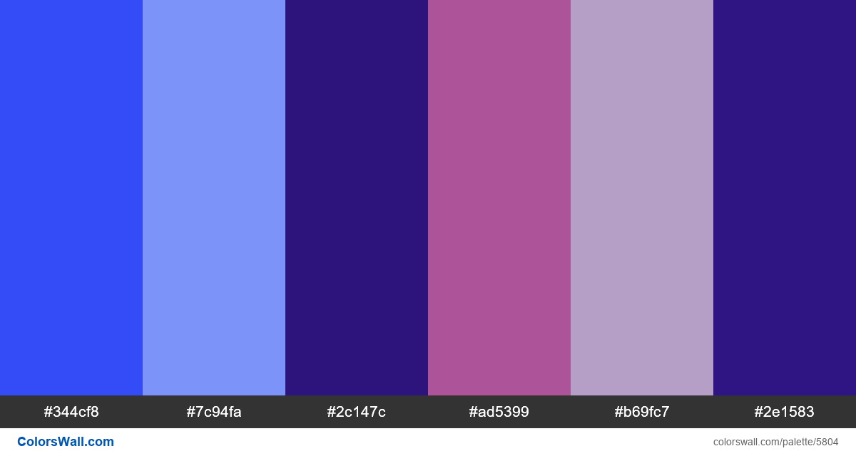 Web webdesign design colors palette - #5804