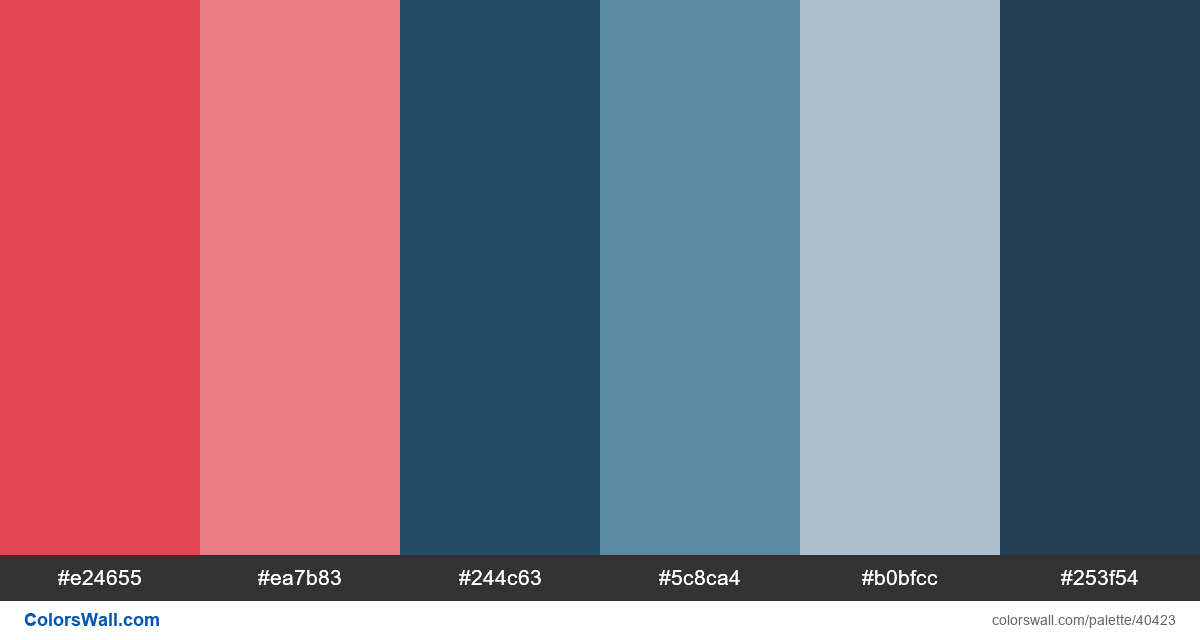 Web website vector typography colors palette - #40423