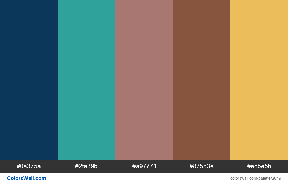 Website color palette #1 generator - #2849