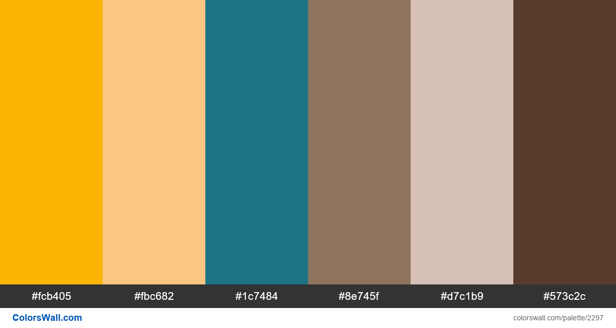 Website colors palette - #2297