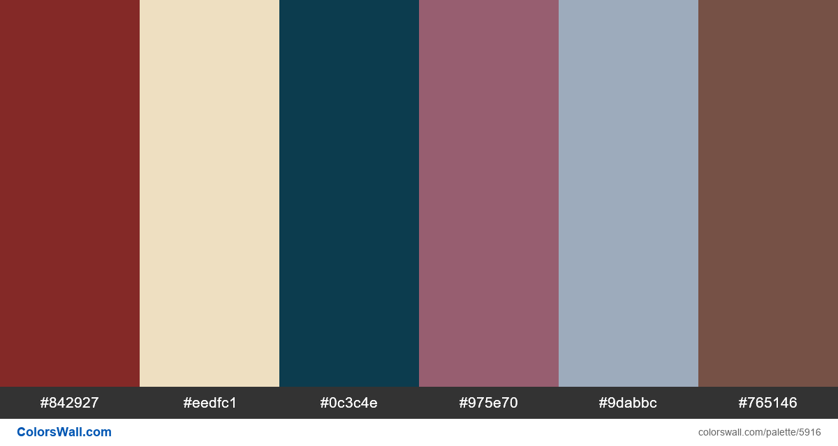 Website design web colors palette - #5916