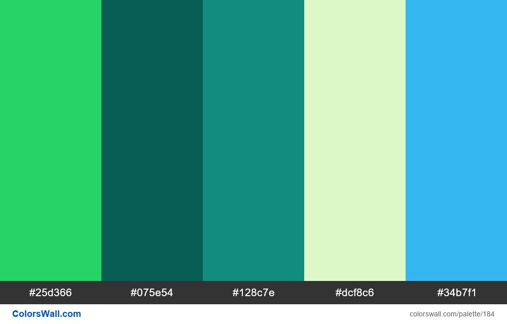 WhatsApp colors palette - #184