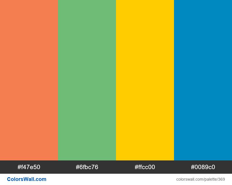 Windows 95 logo colors - #369