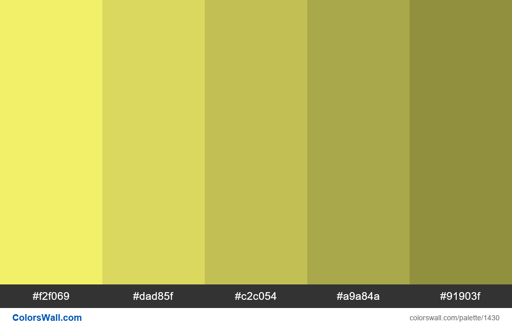 Yellow shades 5 colours - #1430