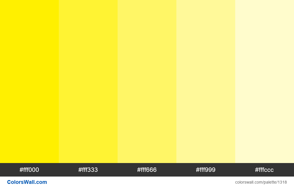 Yellow tints colours - #1318