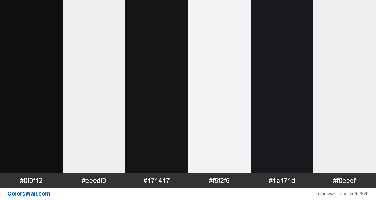 Zebra colors palette - #820